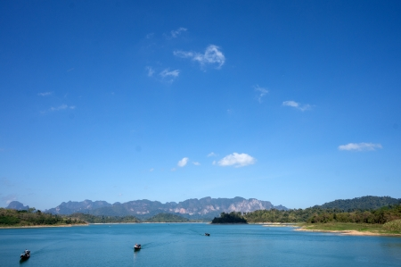 Chiao Lan Lake at Khao Sok National Park, Thailand photo
