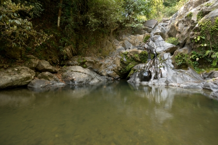Sipet Chan Waterfall at Khao Sok National Park, Thailand Stock Photo - 18647486