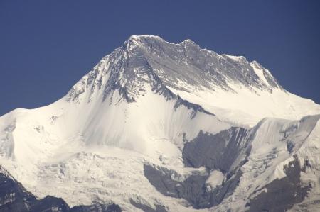 arial views: Himalayan Mountain Range in Nepal Stock Photo