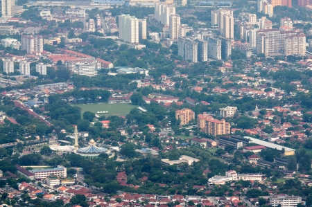 arial views: Penang Cityscape View in Mallaysia