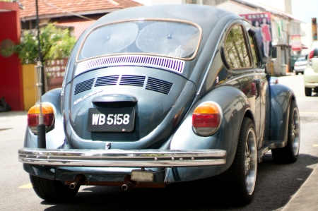 vw: Old VW Beetle in Penang City in Malaysia
