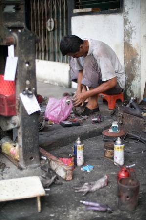Repair Shop in Penang City in Malaysia Stock Photo - 19169564
