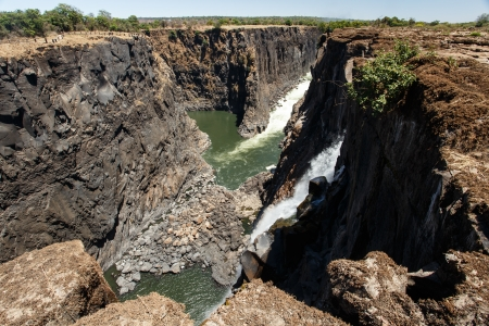 The Mighty Victoria Falls in Livingstone, Zambia, Africa photo