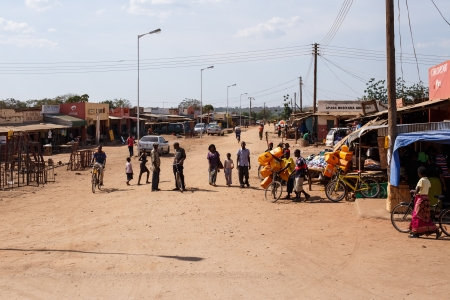 ZAMBIA - OCTOBER 14 2013: Local people go about day to day life in Zambia, Africa