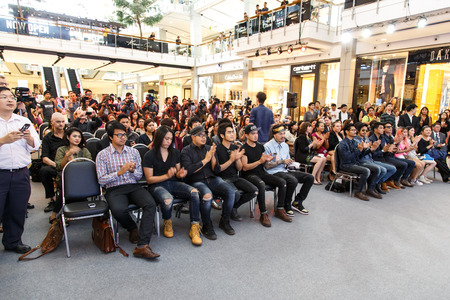 ambassadors: BANGKOK - FEBRUARY 19 2014: MTV Exit Press Conference held in Central World Plaza Bangkok with high profile bands along with US and Australian Ambassadors for upcoming charity concert in Udon Thai, Thailand