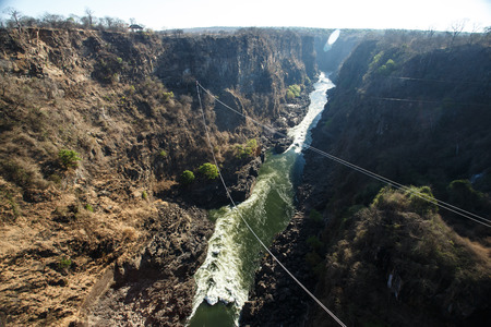 zambezi: The Mighty Victoria Falls in Livingstone, Zambia, Africa