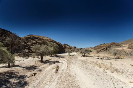 Dry River Bed at Kuiseb Canyon in the Namib Desert, Namibia, Africa photo