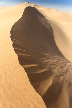 blowing of the wind: Sand Dunes in Namib Desrt, Namibia, Africa Stock Photo
