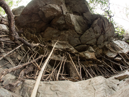feature: Rock Feature at Mae Sa Waterfall National Park in Northern Thailand