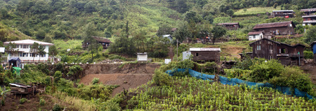 unspoilt: Small village in remote Chin State - Western Myanmar (Burma)
