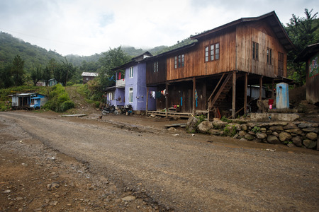 western state: Small village in remote Chin State - Western Myanmar (Burma)