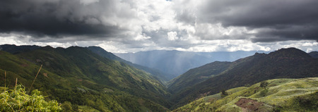 The outskirts of Kalay in the Mountains of Chin State, Myanmar (Burma)