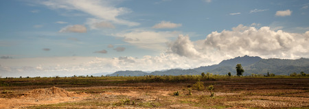 great plains: The flat grassy plains in the outskirts of Kalay in the Mountains of Chin State, Myanmar (Burma)
