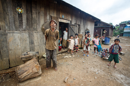 CHIN STATE, MYANMAR - JUNE 22 2015: Local village man in the recently opened for tourists Chin State Mountainous Region, Myanmar (Burma)