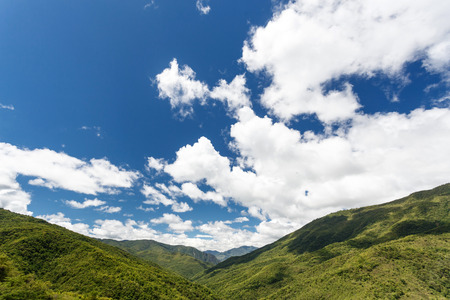unspoilt: Scenic Landscape in Chin State Mountains, Myanmar (Burma) Stock Photo