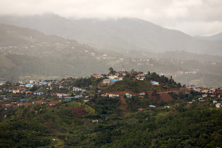 settlement: Settlement in The Chin State Mountains, Myanmar (Burma) Stock Photo