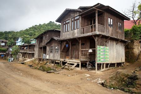 chin: Rustic Village in Chin State, Myanmar (Burma)