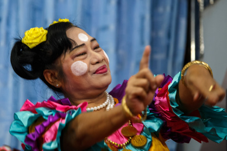 comedy show: MANDALAY, MYANMAR - JUNE 25 2015: Moutache brothers perform a politically sensitive comedy show which has gaine recognition Mandalay, Myanmar. Editorial