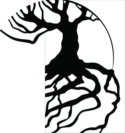 abstract logos: Tree Roots