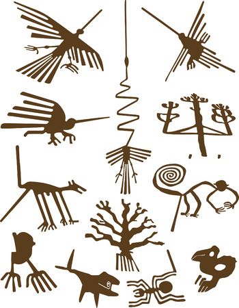 geoglyphs: Nazca Lines Illustration