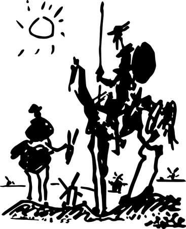 don quichotte: Picasso, Don Quichotte