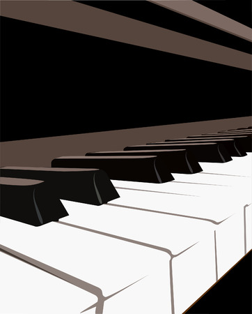 Piano Keyboard, vector Illustration