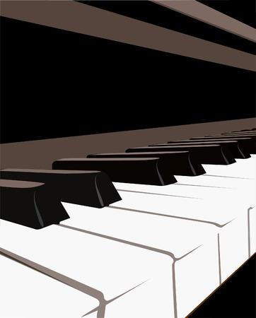 piano keyboard: Piano Keyboard, vector Illustration