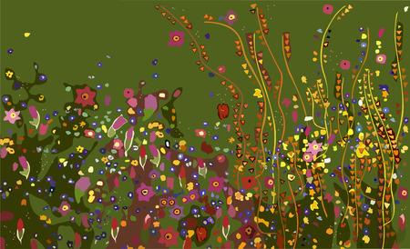 Gustav Klimt, Flowers 일러스트