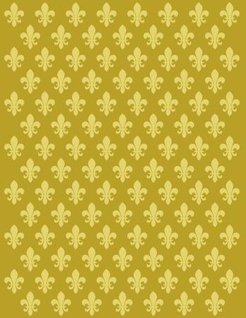 lily flower: Frans Lily bloem motief achtergrond vector design