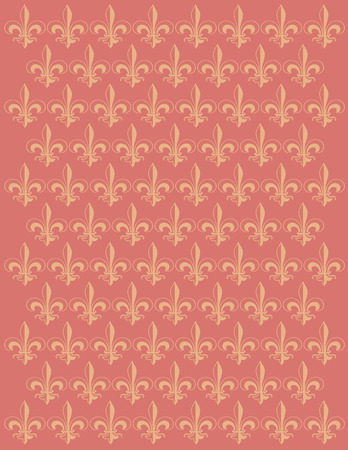 French Lily flower motif background vector design Illustration