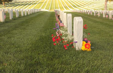 national military cemetery: United States National Cemetery of fallen Heroes Stock Photo