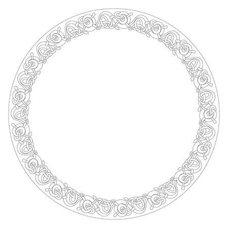 Celtic vettore nodo illustrazione decorativa frontiera ornamento Archivio Fotografico - 4122610