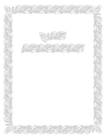 celtic symbol: Celtic vector knot illustration decorative border ornament