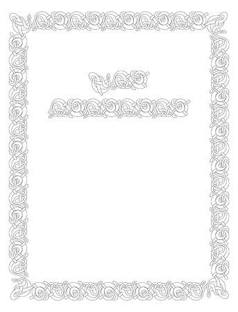 Celtic vettore nodo illustrazione decorativa frontiera ornamento Archivio Fotografico - 4122611