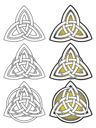 Stylized decorative celtic knotwork outline illustration ornament Illustration