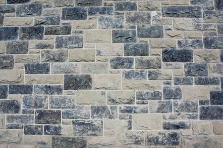 Grunge gray stone brick wall background pattern Stock Photo