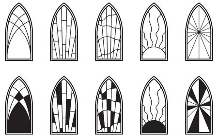 vetrate artistiche: Vector art raffigurante isolato vetrata