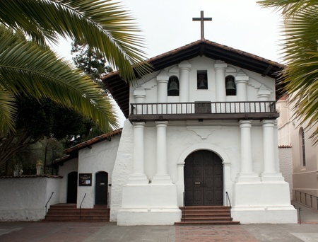 oldest: Mission Dolores, oldest surviving structure in San Francisco Stock Photo