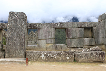 Machu Picchu, pre-Columbian 15th century Inca city Stock Photo