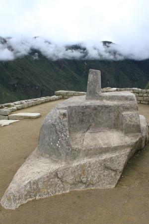 hitching post: Machu Picchu Intihuatana, hitching post of the sun