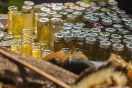 カモシカの痛み救済マッサージ オイル 写真素材