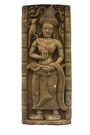 分離のカンボジア アート アプサラの彫刻