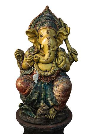 ヒンドゥー教のガネーシャ彫刻分離 写真素材