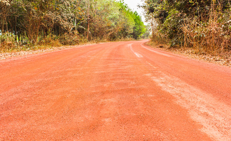 laterite: laterite road in countryside