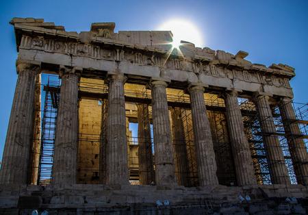 restoration: restoration of the Parthenon Stock Photo