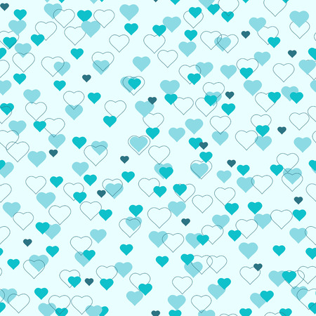 corazones azules: Pequeños corazones simples sin patrón. El amor en el concepto sentimientos de aire. Sombras de azul.