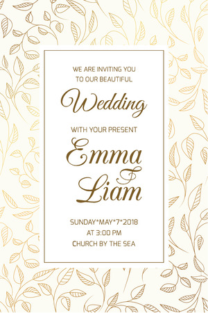 Wedding Marriage Event Invitation RSVP Card Template. Swirly ...