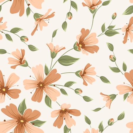 Crimson maroon gypsophila floral seamless pattern texture. Babys breath flowers buds stem leaves inflorescence bouquet on white background. Vector design illustration. Vettoriali