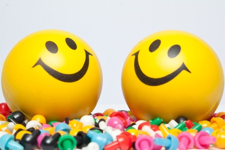 Smile on Colourful pin