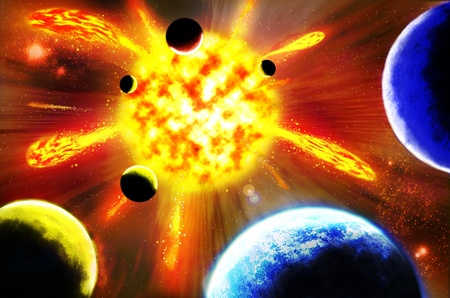 Supernova explosion Stock Photo - 11730357